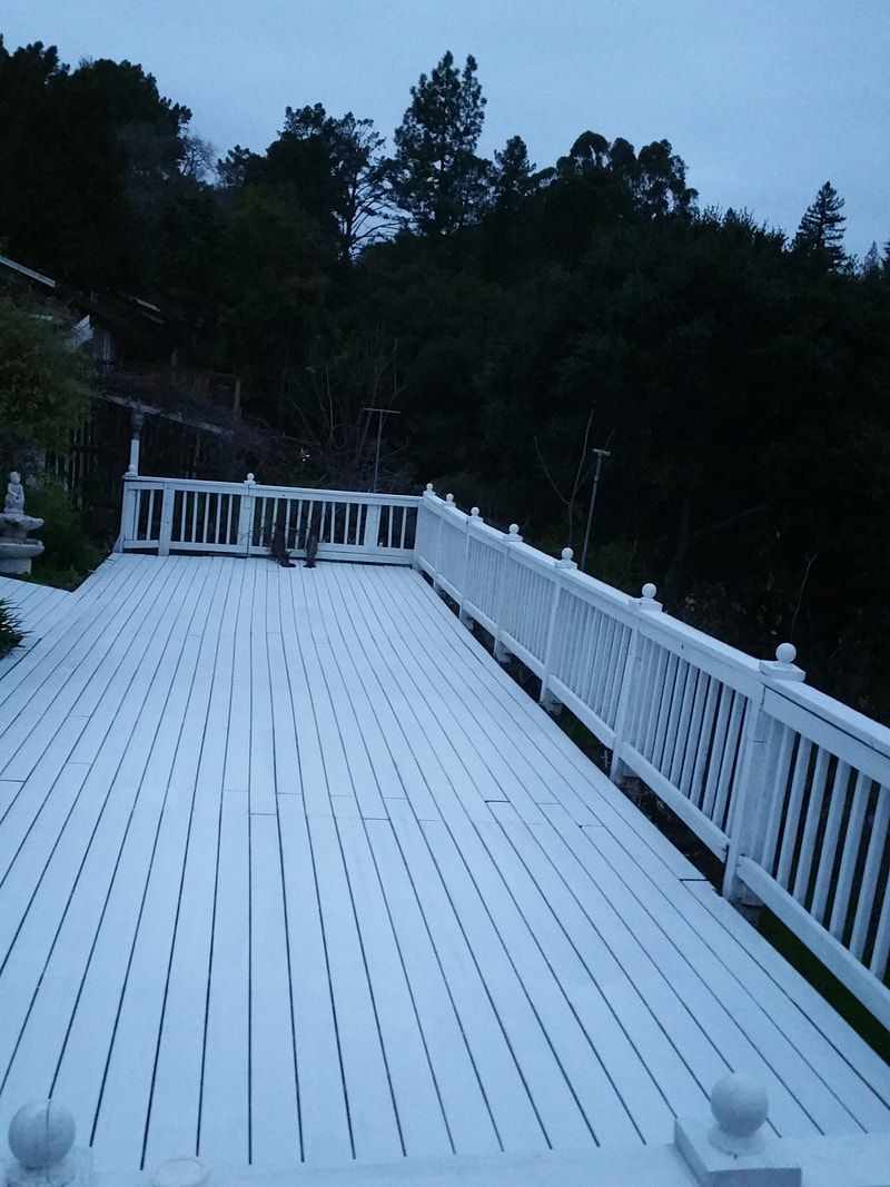 Replacement of rotten components & paint bring this deck back to life.