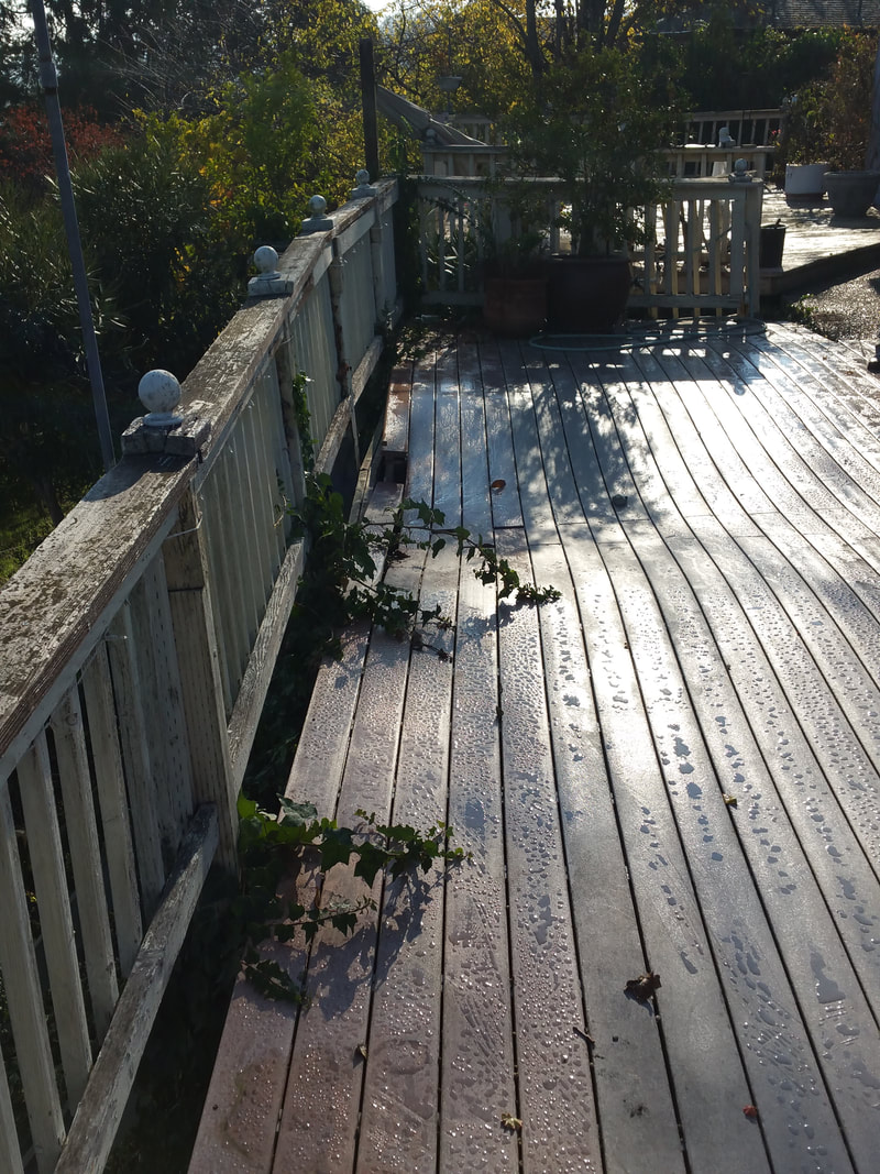 This deck was literally falling down.