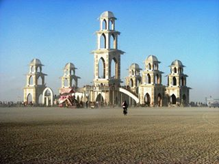 The Temple of Transition, Burning Man 2011. Cougar was a major contributor to the design & build.