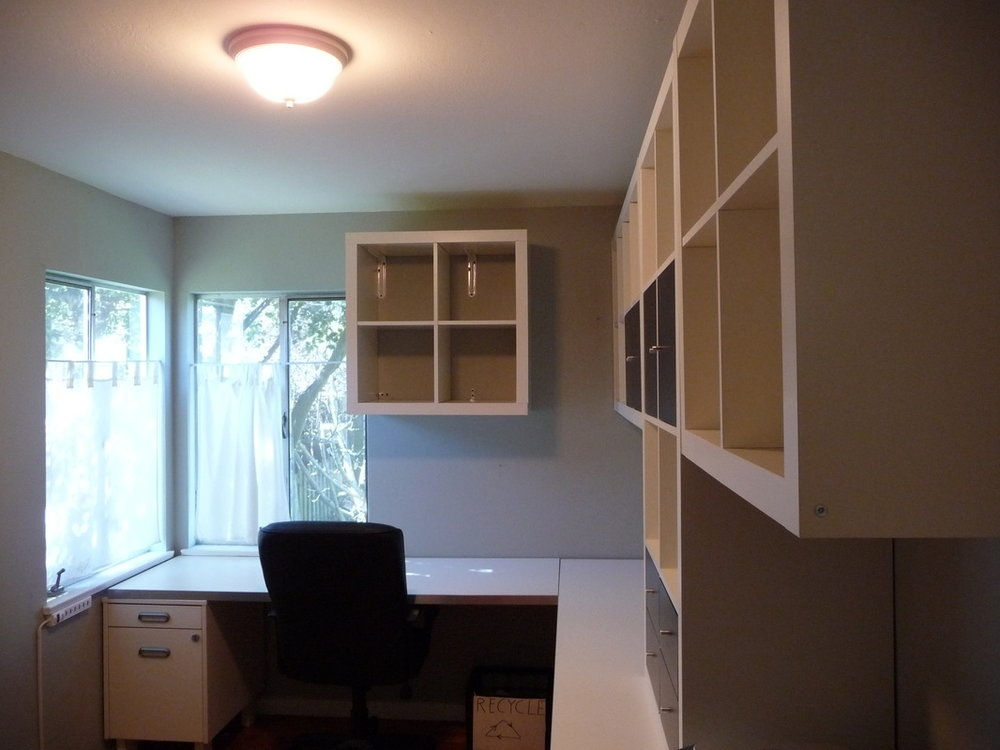 Transform this unused space into a home office.