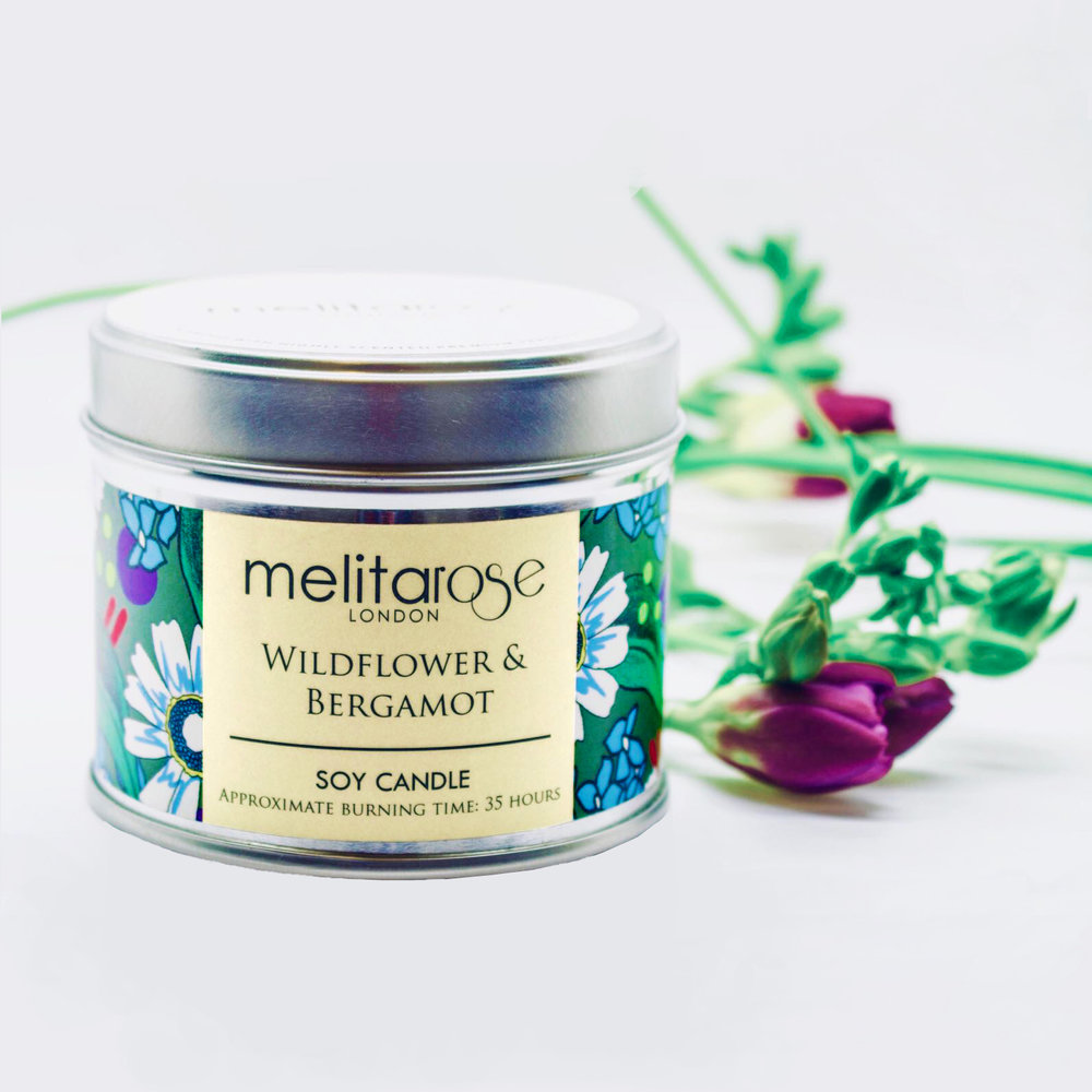 MELITAROSE LONDON   I collaborated with Melitarose Candles who also started her business with the Prince's Trust like me. We created this Wildflower and Bergamot Candle.