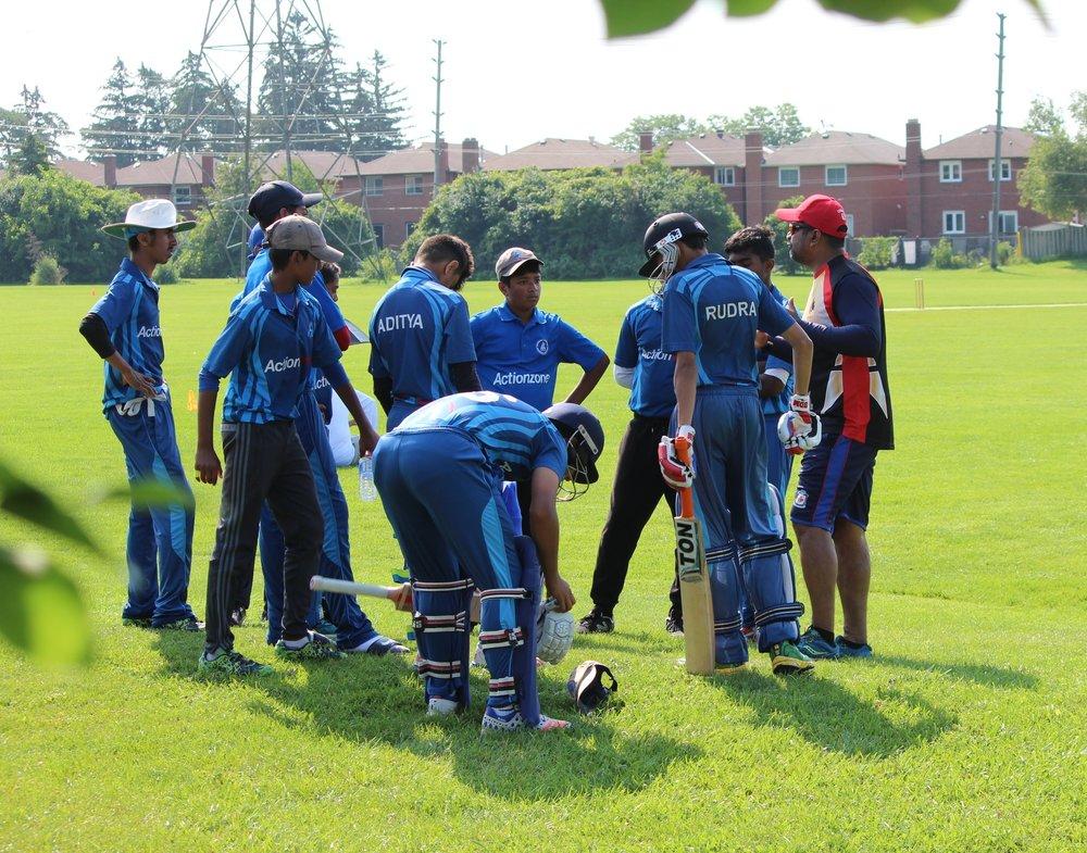 Coach Balaji and U-16 Team