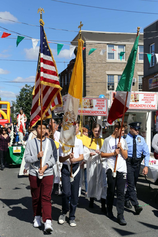 procession route -