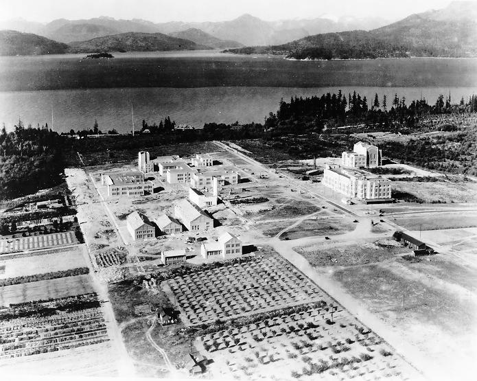 Aerial view of Point Grey Campus, 1925