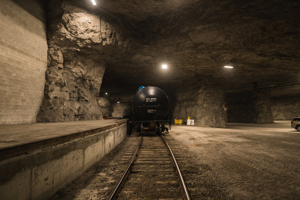Below Ground - 3,600 feet of track