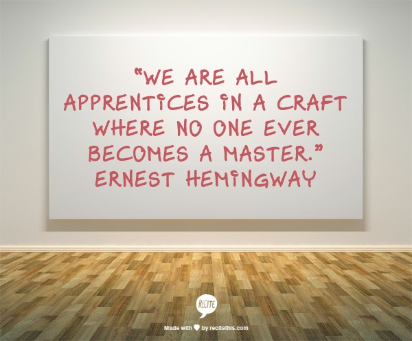 Ernest Hemingway Writing Quote