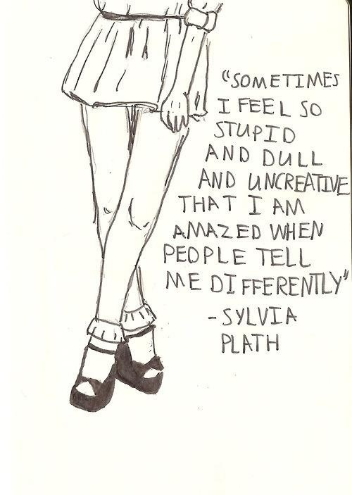 Sylvia Plath writing quote