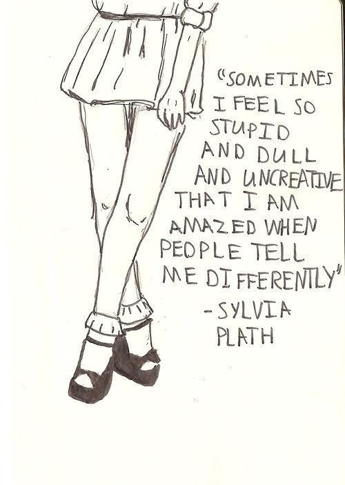 Sylvia Plath writing quote