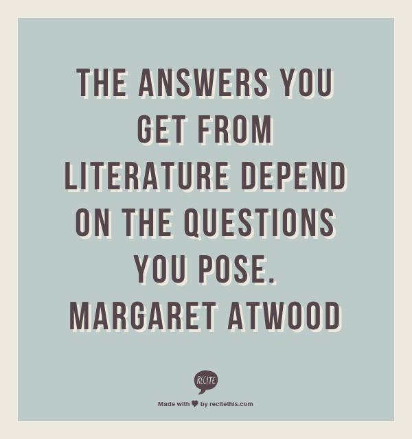 Margaret Atwood writing quote