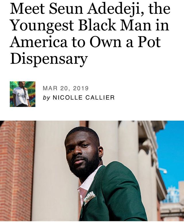 Good Tree Capital partner Seun Adedeji @seundeji is a 25 year old entrepreneur that is the walking example of the change needed in the cannabis industry.  We support the efforts of hard working business owners like Seun with equal opportunity financing for women and people of color in the cannabis industry.  Visit our site to more about how you can invest in owners like Seun.  #cannabiscommunity #cannabusiness #marijuana #goodtreecapital #investment #cannapreneur #elev8 #cannabisindustry #cannabisculture #socialequity #fintech #blackfounders #diversityandinclusion #afrotech #cannabisstartups #ganjapreneurs
