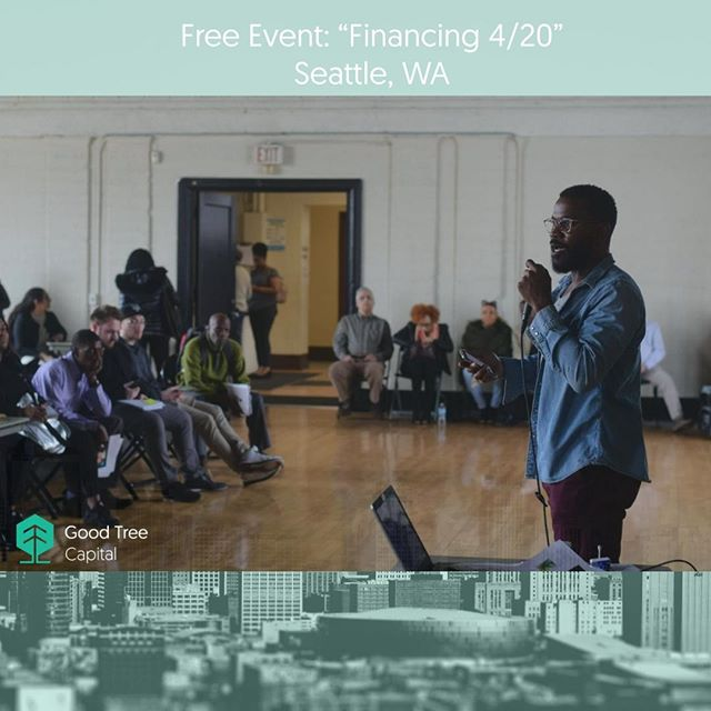 Join us for a networking event and discussion led by founder of Good Tree Capital, Seke Ballard. We'll have wine and light snacks available while you learn more about financing the cannabis industry, and how you can get a strong return on investment by lending money to cannabis businesses.  When: Saturday, 4/20/2019 from 7:30 PM - 9:30 PM Where: 100 South King Street - Suite 100, Seattle, Washington 98104  Agenda: 7:30 Networking with drinks and snacks 8:00 Discussion led by Good Tree Capital founder Seke Ballard 8:30 Q&A 9:00 Wrap up and networking  RSVP via meetup if you'd like to attend!  Link in bio