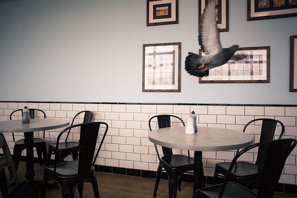 fish and chip shop, bournemouth, dorset, uk 2015