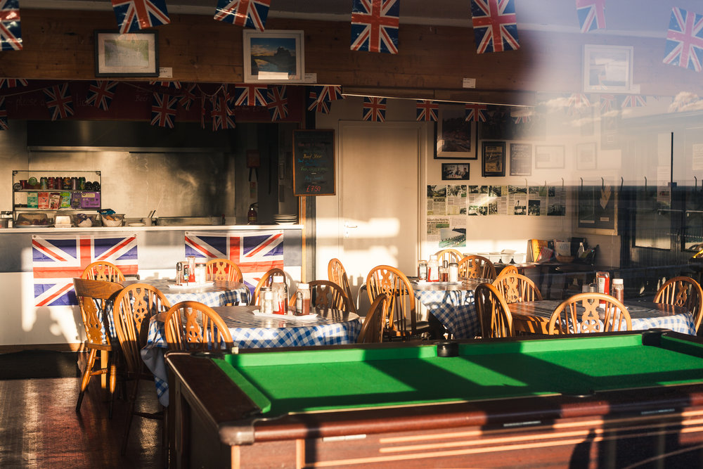 flags and a pool table, folkstone, kent, 2016