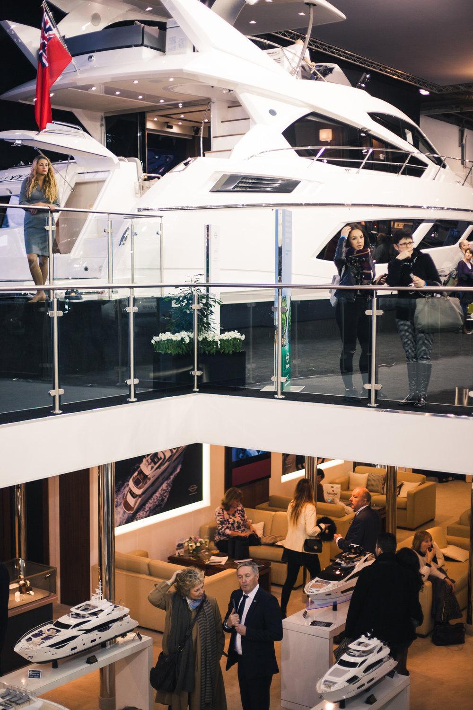 sales floor, london boat show 2015