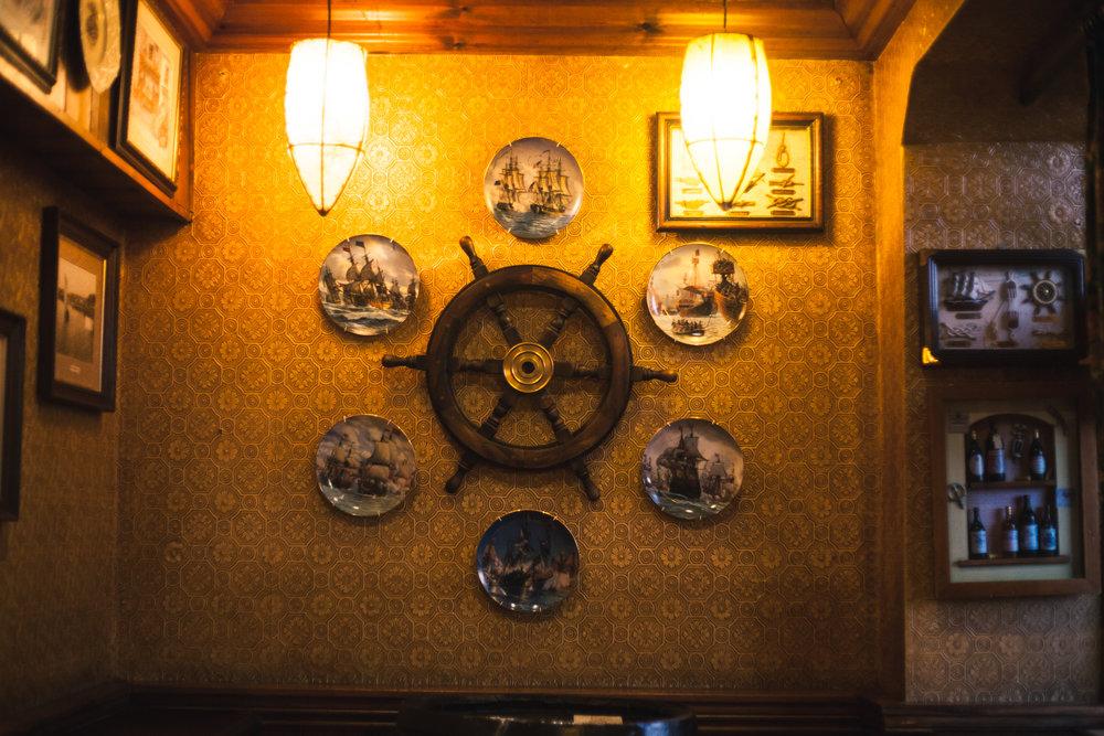 Nautical decorations, the ship inn, folkstone, kent 2016
