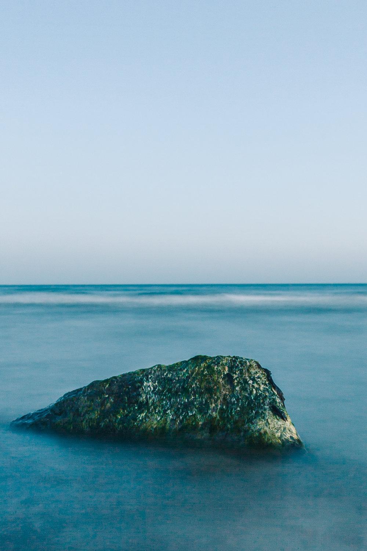 a solitary rock, shoreham-by-sea, 2017