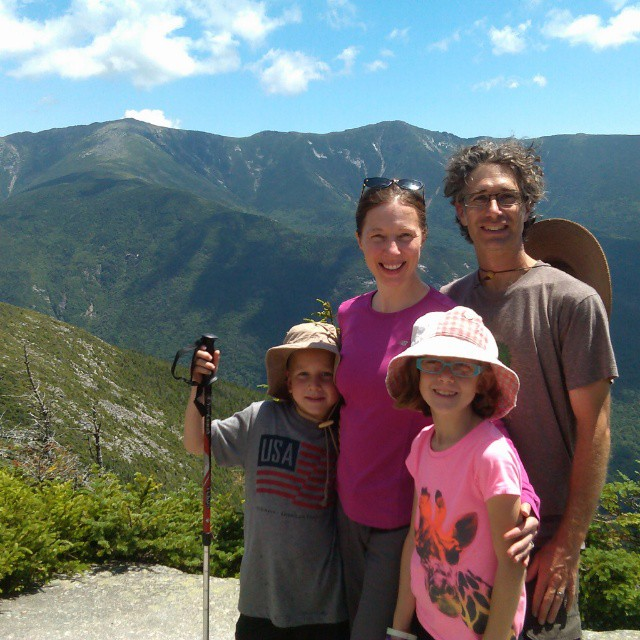 "First summit experience for my niece and nephew.  They loved it, and earned it with their legs and arms up Cannon Mt.  Beautiful hike after a night at Lonesome lake AMC hut with massive amazing thunderstorms.  Memorable weekend. ""I can't believe we swam in a lake on TOP of a mountain!"""