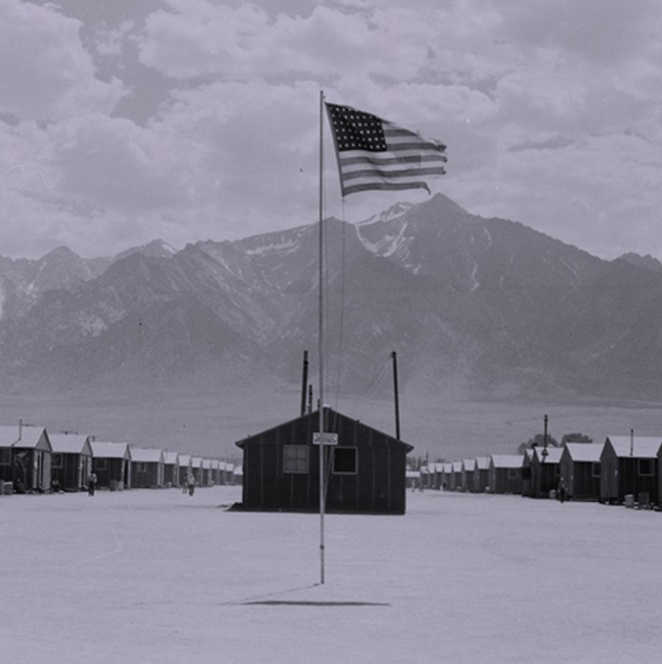 an American flag -