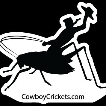 Cowboy Cricket Sticker -