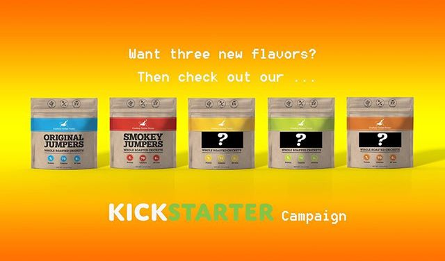 Hey!  One week until the @kickstarter campaign starts for our whole #roasted #crickets !  Who's gonna #support this #sustainable #snack ? #cricketsarefood #crowdfunding #kickstarter #new #bug #insect #launch