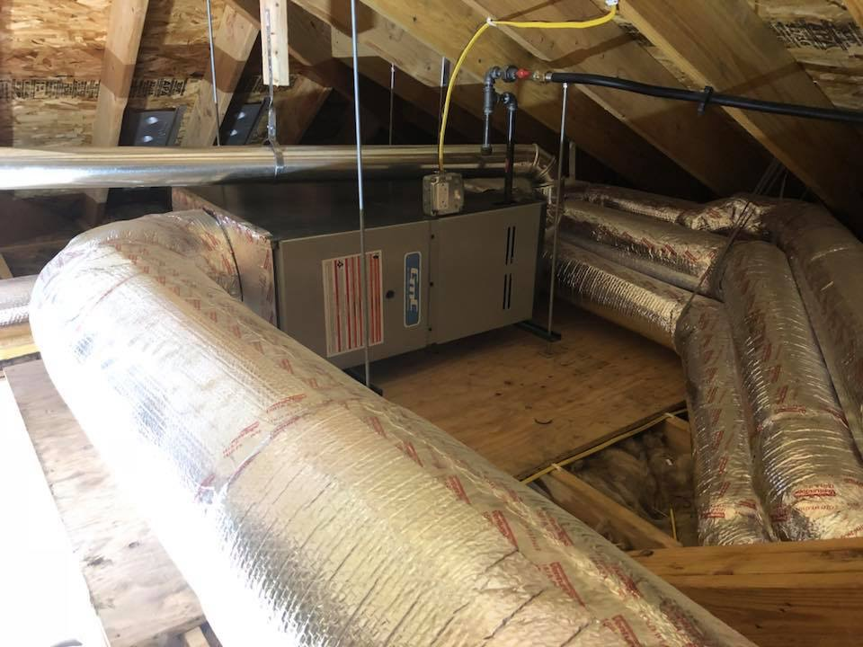 New Concealed Garage Furnace Installation