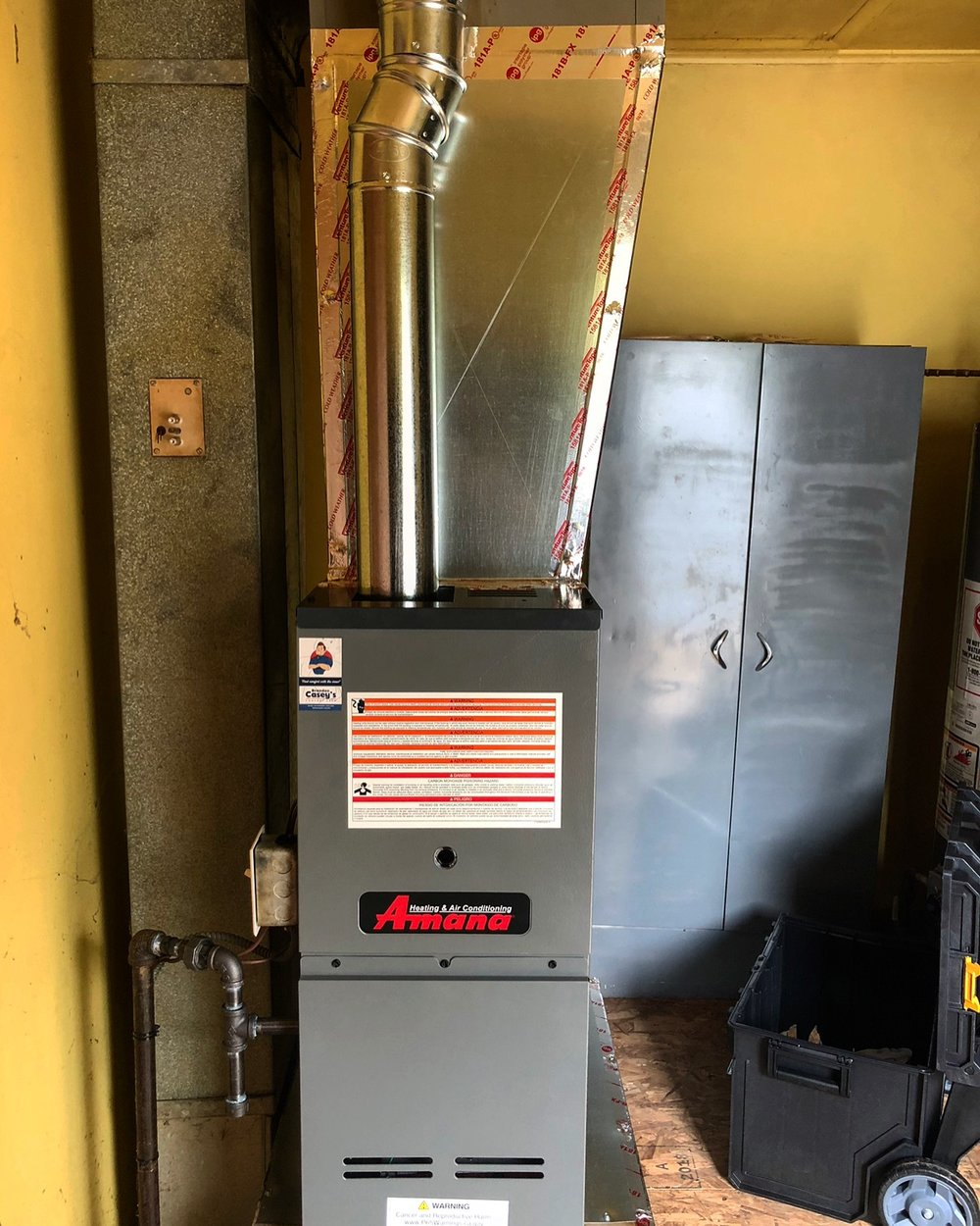 Amana Furnace Installation October 2018