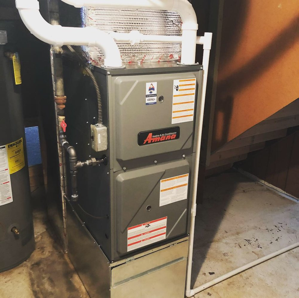 Amana 96% Efficient Furnace w/Duct Work