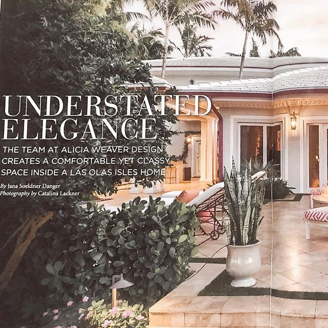 You guys!  We are beyond grateful for our friends at @flahomegarden magazine for publishing an amazing spread on one of our favorite homes in our portfolio!!!! 🙌🏻🙏🏻 our special clients deserve the best and it shows through in this stunning home! ...and congratulations to the magazine on their inaugural issue!! We are blushing that we were included to kick off such a beautiful publication 🙌🏻. Feature is also included in @goldcoastmag and @fortlauderdalemagazine 💕 . . . . #pinchme #flahomegarden #gulfstreammediagroup #fortlauderdalemagazine #goldcoastmagazine #aliciaweaverdesign #interiordesign #interiorismo #homedecor #luxurylifestyle #luxuryhomes #waterfronthomes #floridaliving #2019goals #magazineworthy #southfloridaphotographer #fortlauderdalerealestate #coastalliving