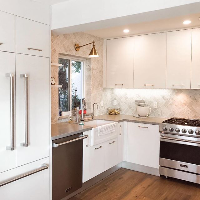 Happy Friday!  Our dear clients wanted to update their kitchen - and here is the amazing transformation...we@took this from lived in and loved to pristine and clean. We just love this family and they love their upgraded home 🥂. Swipe 👉🏻 for the BEFORE! . . . . #interiordesign #kitchenremodel #kitchenrenovation #smallspacestyle #whitekitchen #cambriaquartz #woodfloors #reno #interiorforyou #mybhg #verytandc #inspo #fortlauderdale #aliciaweaverdesign #cambriaqueenanne