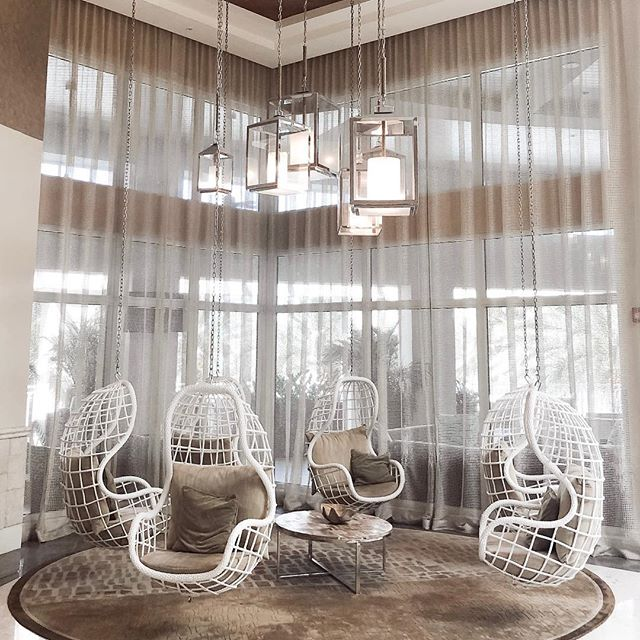 Swinging into the weekend with this playful lobby at @playalargo. We love when designs hit the mark of their surroundings - and who wouldn't want to hang around in these bad boys?! 📸 @misskeriv . . . . #inspo #aliciaweaverdesign #keylargo  #fortlauderdale #swing #interiordesign #relaxation #unexpectedjoy #lightingdesign #vacaymode #coastaldecor #beachmode #coastal_living