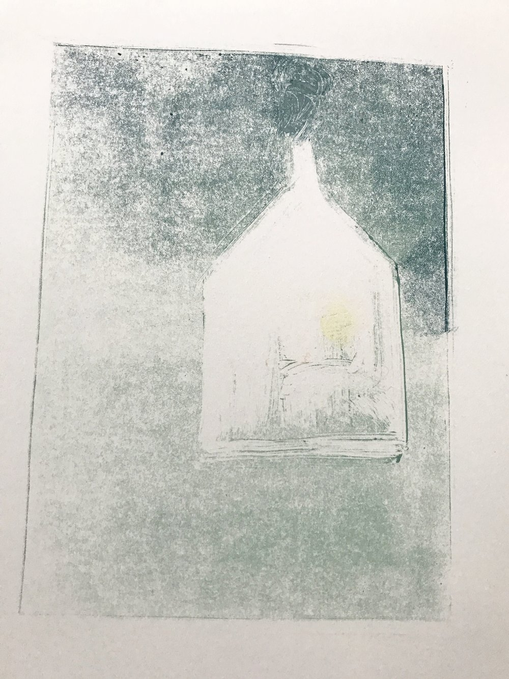A print awaiting pencil marks