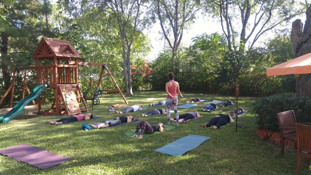 Backyard Birthday Yoga Party