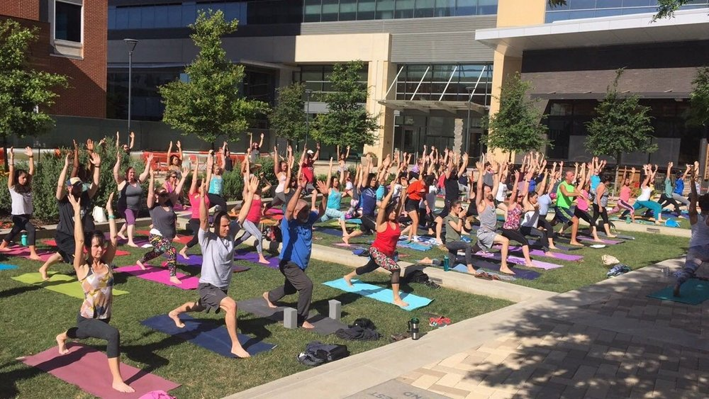 Yoga in the Plaza