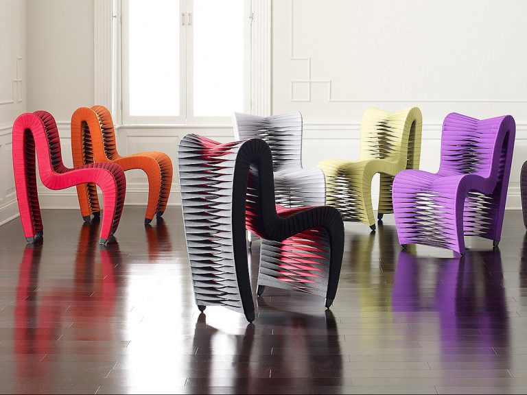 Above: seatbelt chairs from    Phillips Collection   , winner of two ARTS awards on Friday