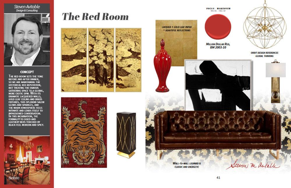 Featuring: Lazzaro Leather sofa, Wendover Art, Currey & Co. chandelier, High Country Rugs, Artmax pedestal, Stark carpet, Visual Comfort sconces, Howard Elliott vessel.