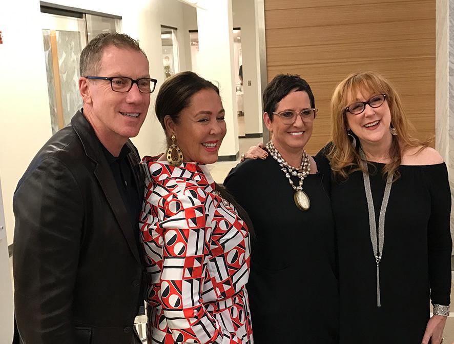 James Swan and designing women Michelle Nussbaumer, Nancy Price, and Robin Baron