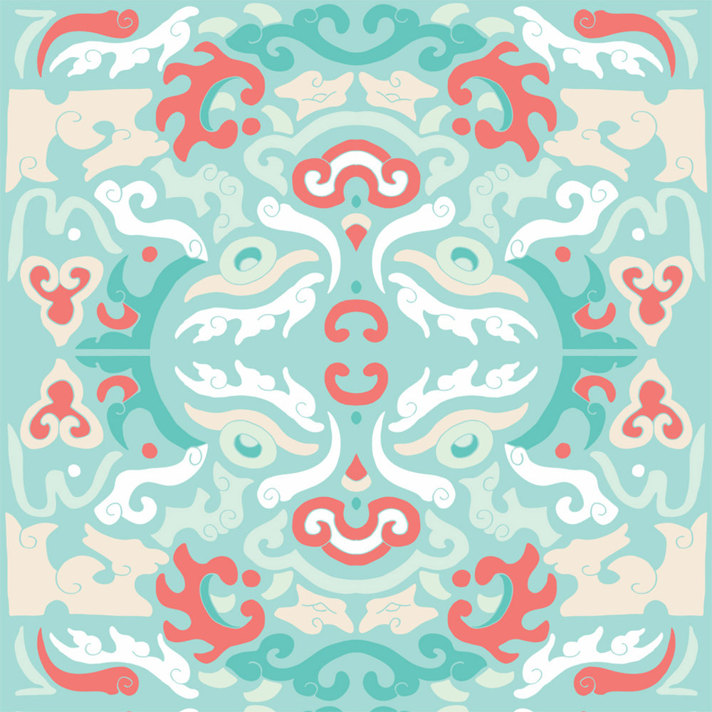 MITCHELL BLACK Shanghai Collection - Foo You Looking At in Coral Reef