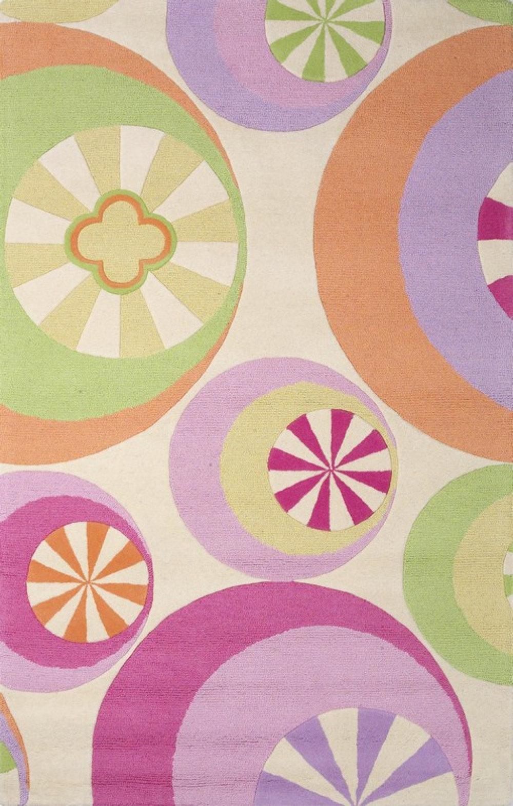 KAS Kidding Around Pastel Peppermint rug