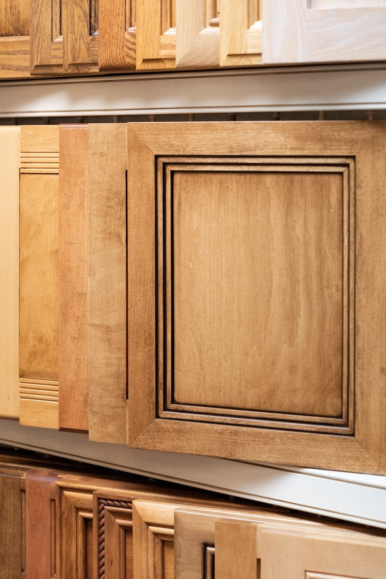 An example of a recessed panel five-piece detail door using mitered construction