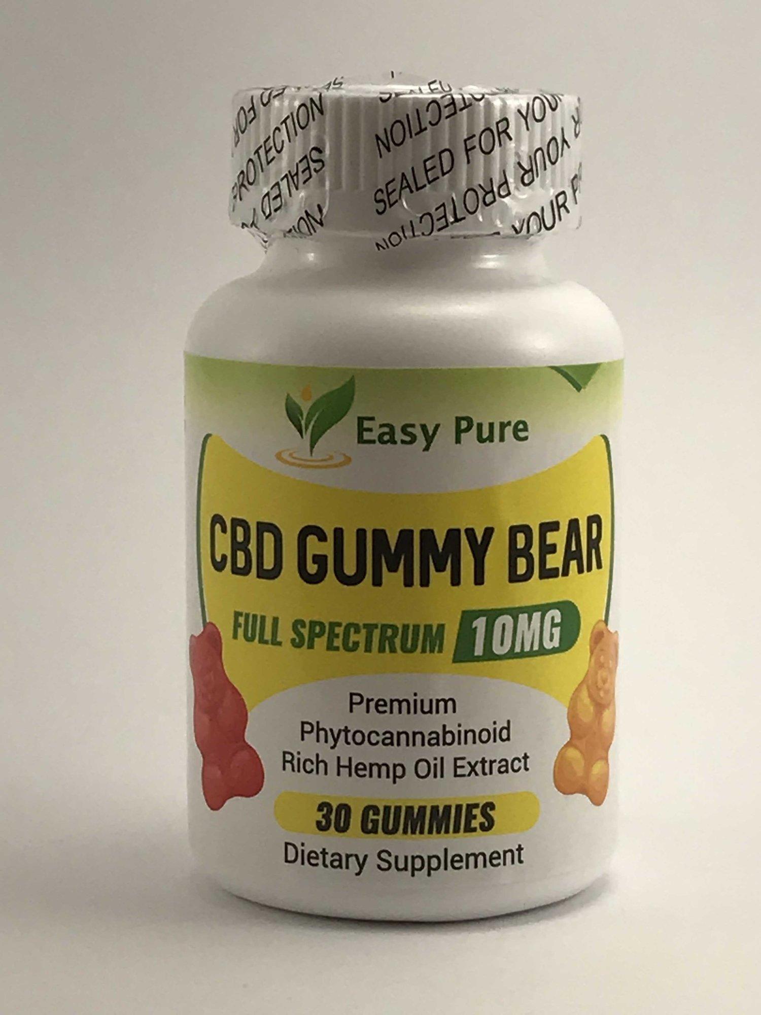 CBD Gummy Bears 10 mg Full Spectrum 30 CT — Easy Pure CBD