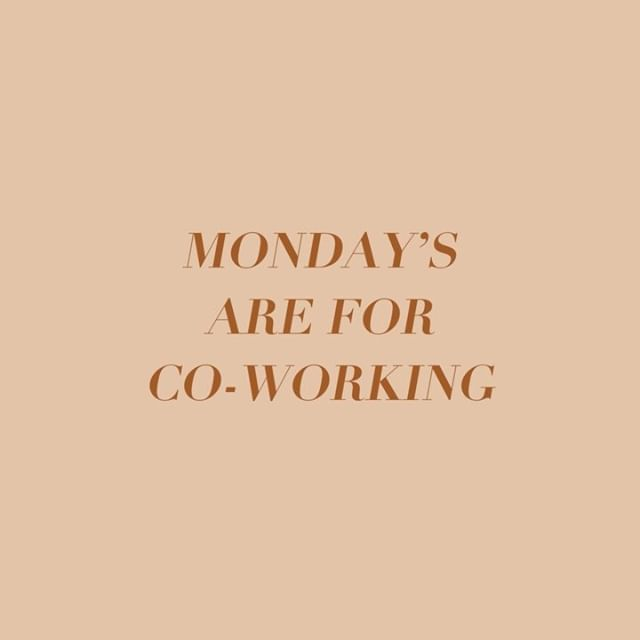 Monday's are for COWORKING! We are opening up the studio EVERY MONDAY for you to come in, work, shoot and edit your Monday away! Plus sip on some coffee from our complimentary Nespresso bar. Swipe to learn more details and RSVP at the link in our bio! #smplcostudio #coworkingspace