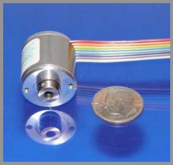 Gurley Models R119 and R120 - Rotary Incremental Mini-Encoders - Series: R119/R120Dia.: 0.75