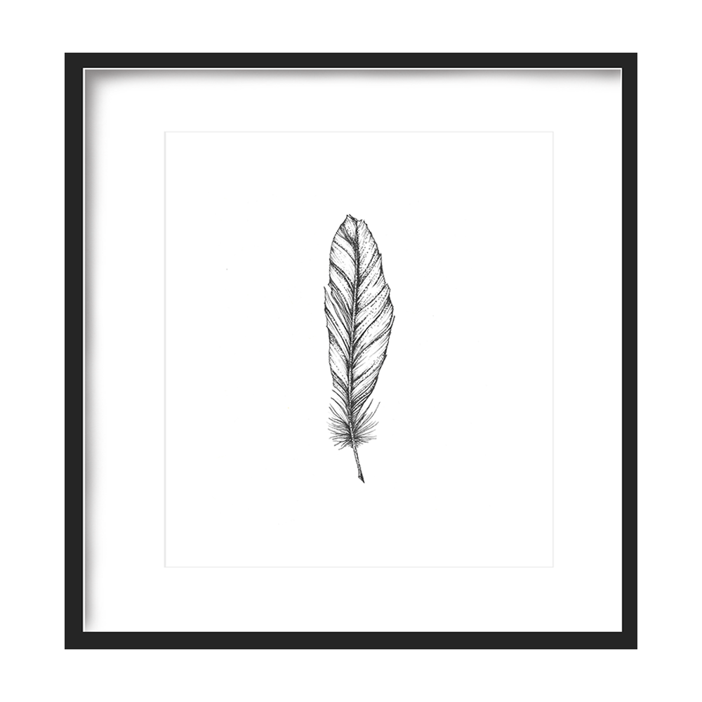 Feather Print 5x5 - $5 -