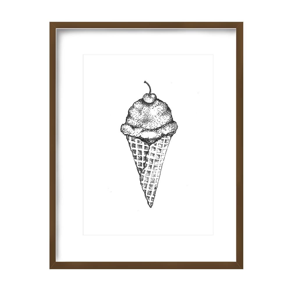Ice Cream Print 5x7 - $10 -