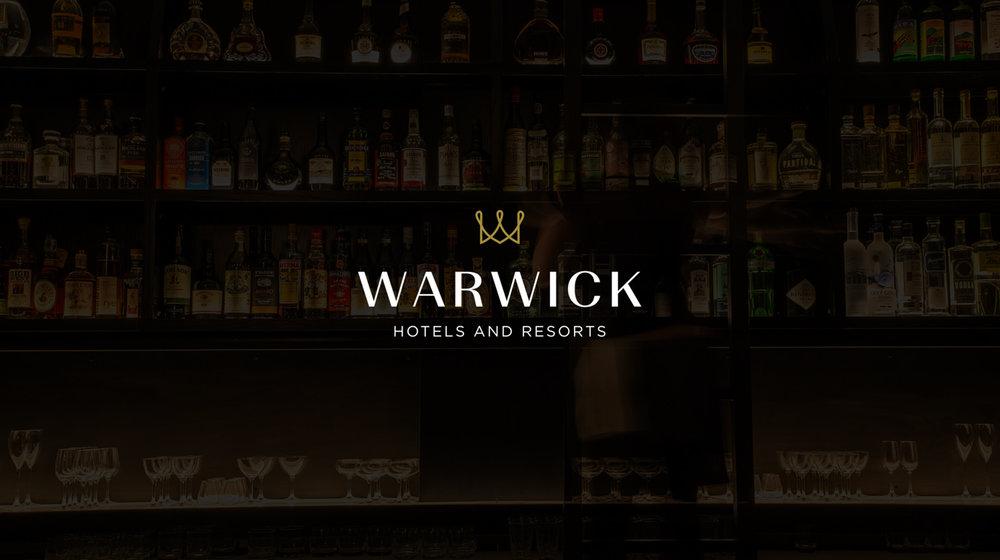Warwick Hotels photography, logo design
