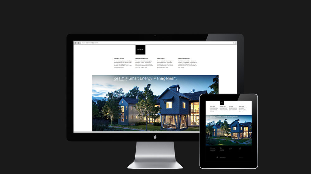 Realm web design and mobile responsive design