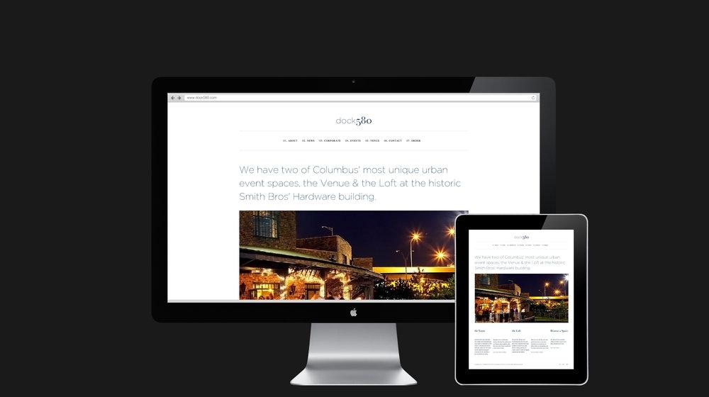 Dock580 web design