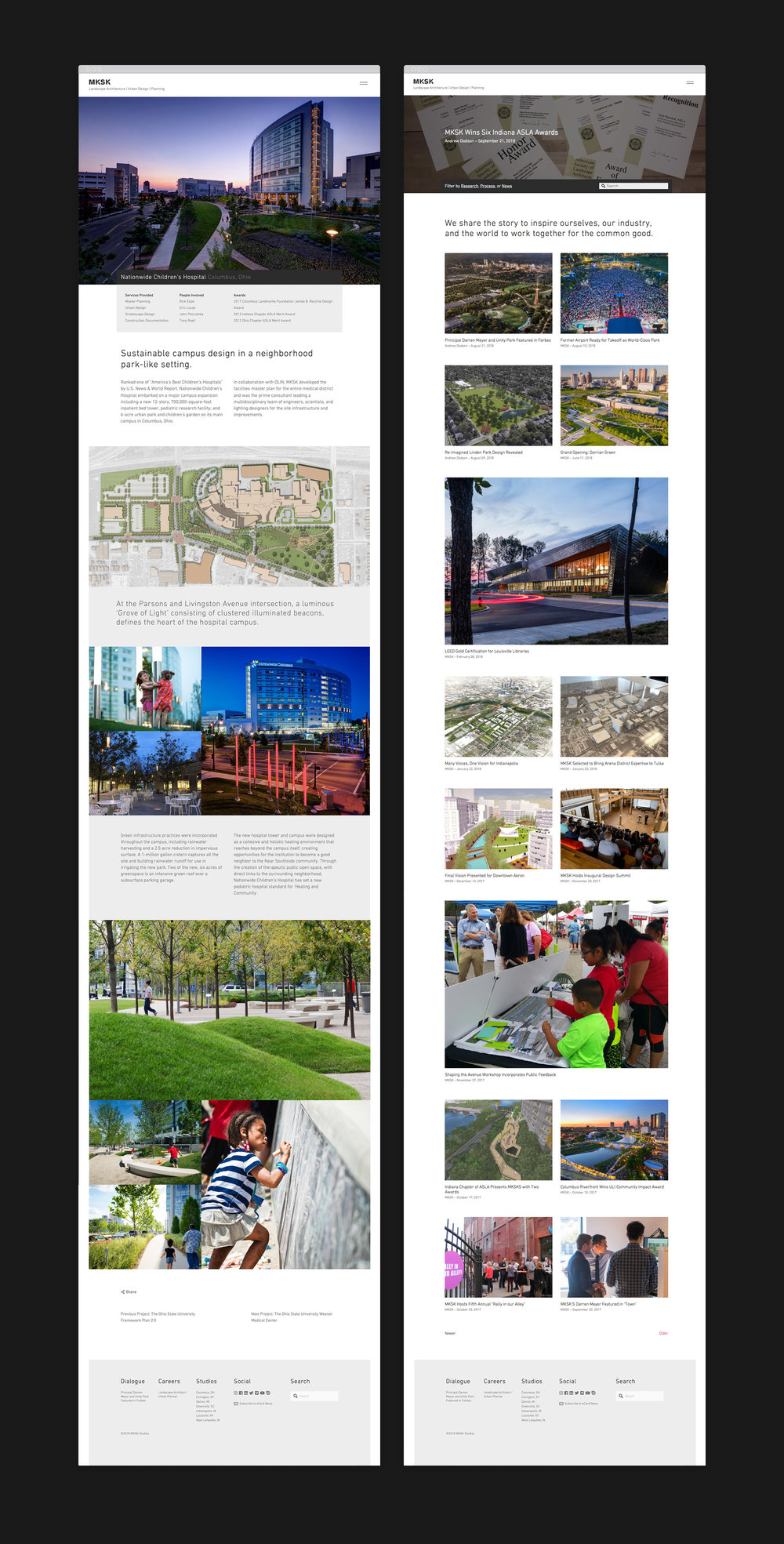 MKSK web design with photo gallery