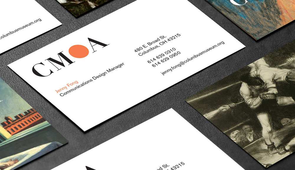 Columbus Museum of Art business card design