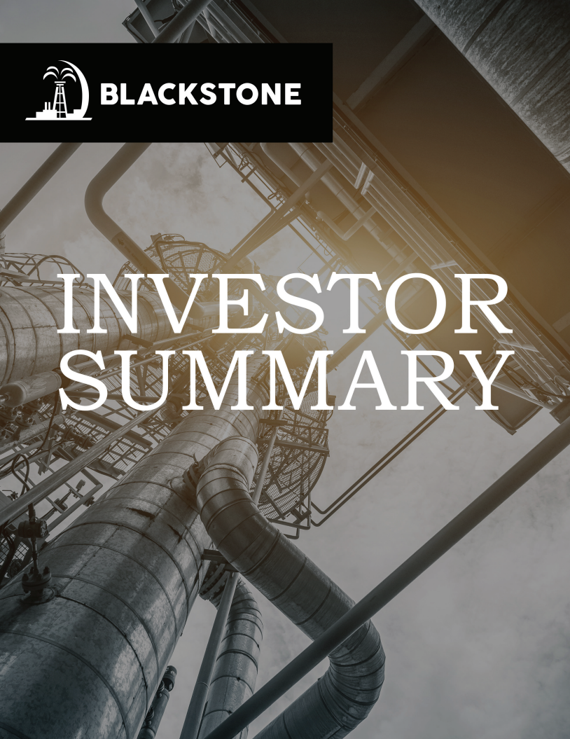 Blackstone Investor Summary